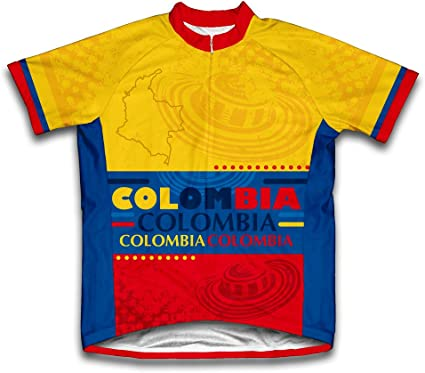 ScudoPro Colombia Maillot de Ciclismo Manga Corta para Hombre -: Amazon.es: Deportes y aire libre