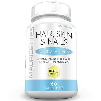 Amazon.com: mauricettes Vitaminas para pelo, piel y uñas ...