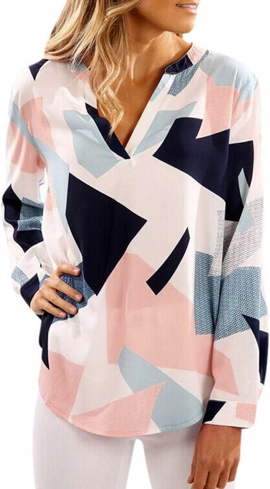 Levifun Mujeres Blusas Camiseta sin Hombro Ropa Mujer Suéter Jersey Camisas Manga Ajustable Pullover Tops Suelta Larga Moda Estampado Fiesta Blusa: Amazon.es: Ropa y accesorios