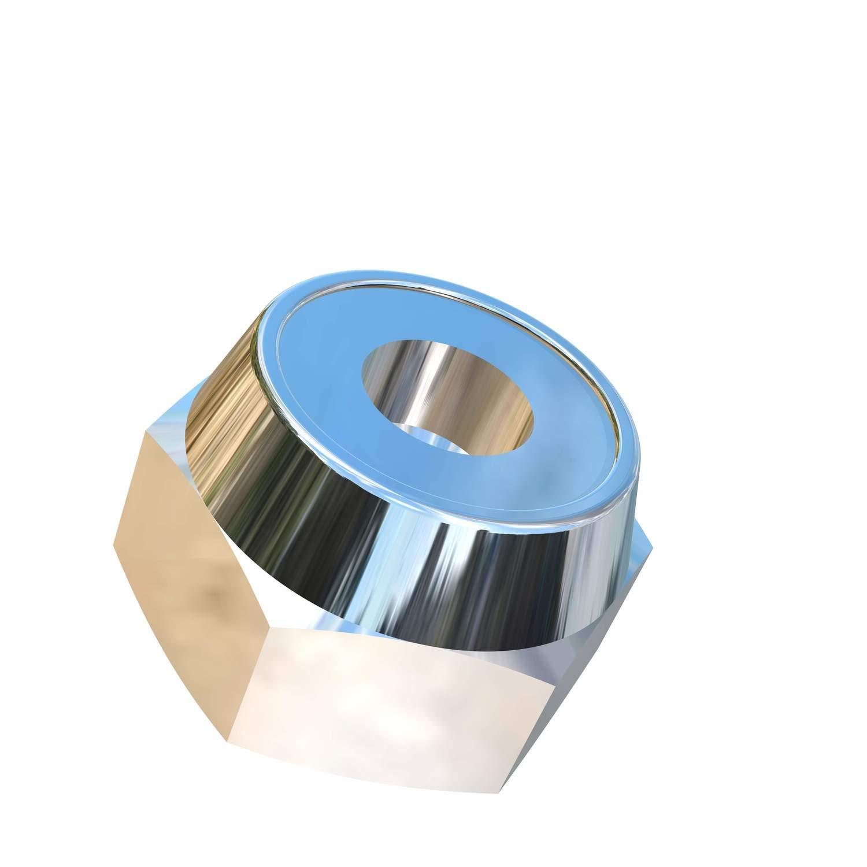 Allied Titanium 0000225, Ti-6Al-4V 608786001 Inc Pack of 5 #8-32 UNC Titanium Hex Nylock Nut Grade 5