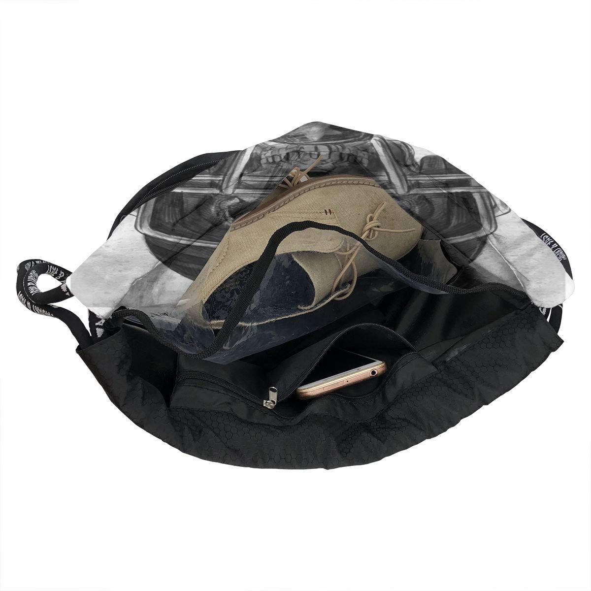 HUOPR5Q Halloween Drawstring Backpack Sport Gym Sack Shoulder Bulk Bag Dance Bag for School Travel
