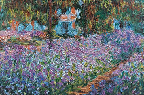 Claude Monet Irises in Monets Garden French Impressionist Painter Poster 18x12 inch ()