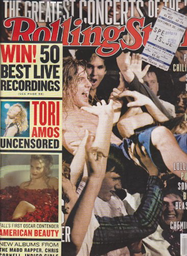Rolling Stone Magazine (The Greatest Concerts of the 90's, Pearl Jam, Chili Peppers, Smashing Pumpkins, Beck, Nirvana, etc., Tori Amos Uncensored, Fall's First Oscar Contender: American Beauty, September 30, - Rolling Stone Jam Pearl