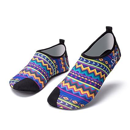 NAN Zapatos de agua Playa Surf Buceo Natación Correr Snorkel Zapatos descalzos Calcetines de Yoga Suelas