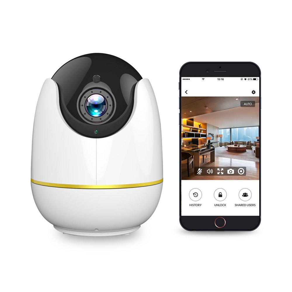 Home Security Camera, Compatible with Alexa Echo Show,360 degree View,Netvue 720P HD Wireless IP Surveillance Camera with Motion Detection P/T/Z TFCard Record/2 Way Audio/Night Vision, Baby Monitor