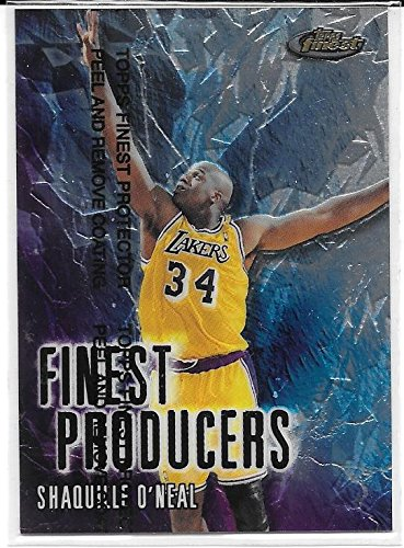 Topps Finest Insert - Shaquille O'Neal 1998-99 Finest Producers Los Angeles Lakers Insert Card #FP1