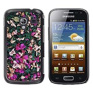 For Samsung Galaxy Ace 2 I8160 / Ace2 II XS7560M Case , Petals Colorful Purple Pink Red - Diseño Patrón Teléfono Caso Cubierta Case Bumper Duro Protección Case Cover Funda
