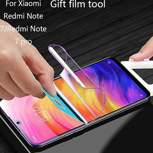 XLLXPZ Película Protectora de hidrogel, para Xiaomi Redmi Note 7 ...