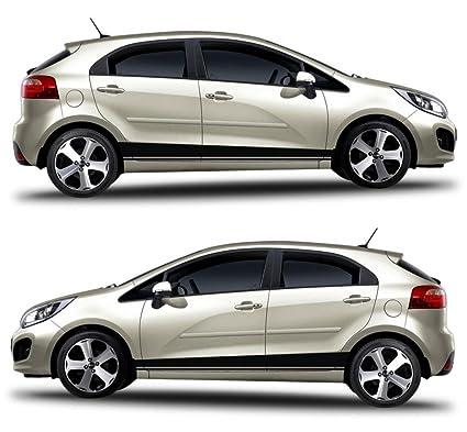 kia rio korea turbo 5 doors hatchback racng stripes sticker gdi crdi kdm ub gt drift