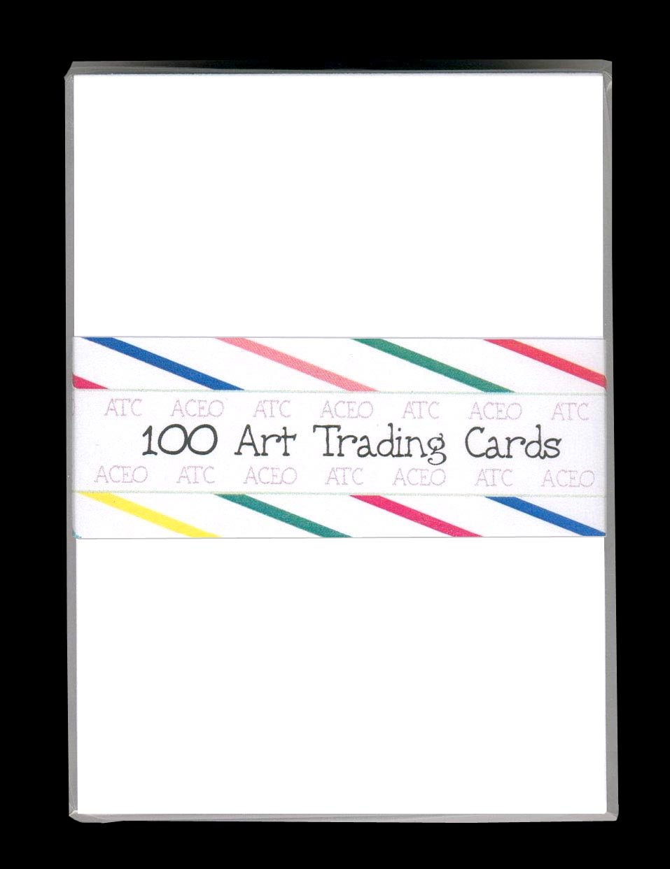 100 BLANK WHITE ACEO ATC ARTIST TRADING CARDS DRAWING CARDSTOCK B003UT9NG0