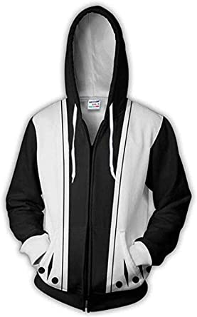 Anime BLEACH Kenpachi Zaraki Cosplay 3D Print Hoodie Sweatshirt Zipper Coat