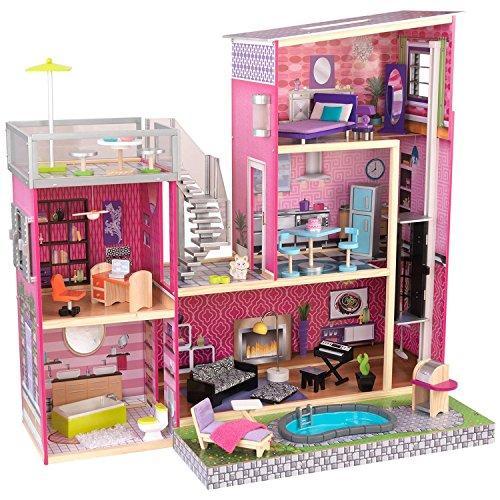 KidKraft Girl's Uptown Dollhouse with Furniture - Best Craft Furniture