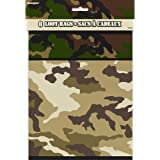Military Camo Party Bags, Pack of 8