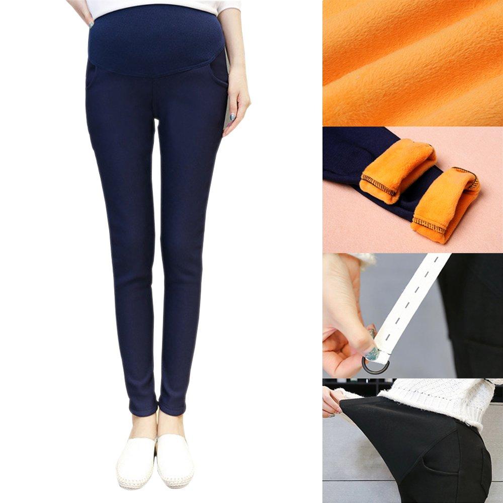 BOZEVON Fashion Umstandsleggins kn/öchellang Leggings Sehr Komfortabel Alle Gr/ö/ßen