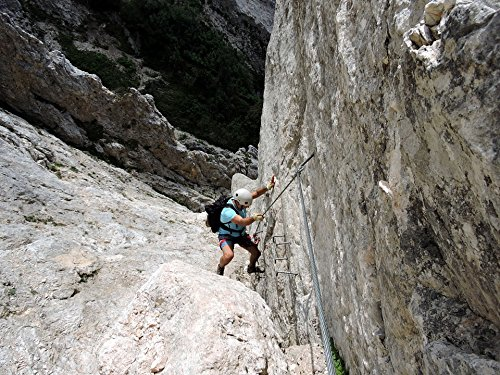 Home Comforts LAMINATED POSTER Helmet Climber Scale Rock Mountain Ferrata Poster 24x16 Adhesive (Rock Climber Scales)