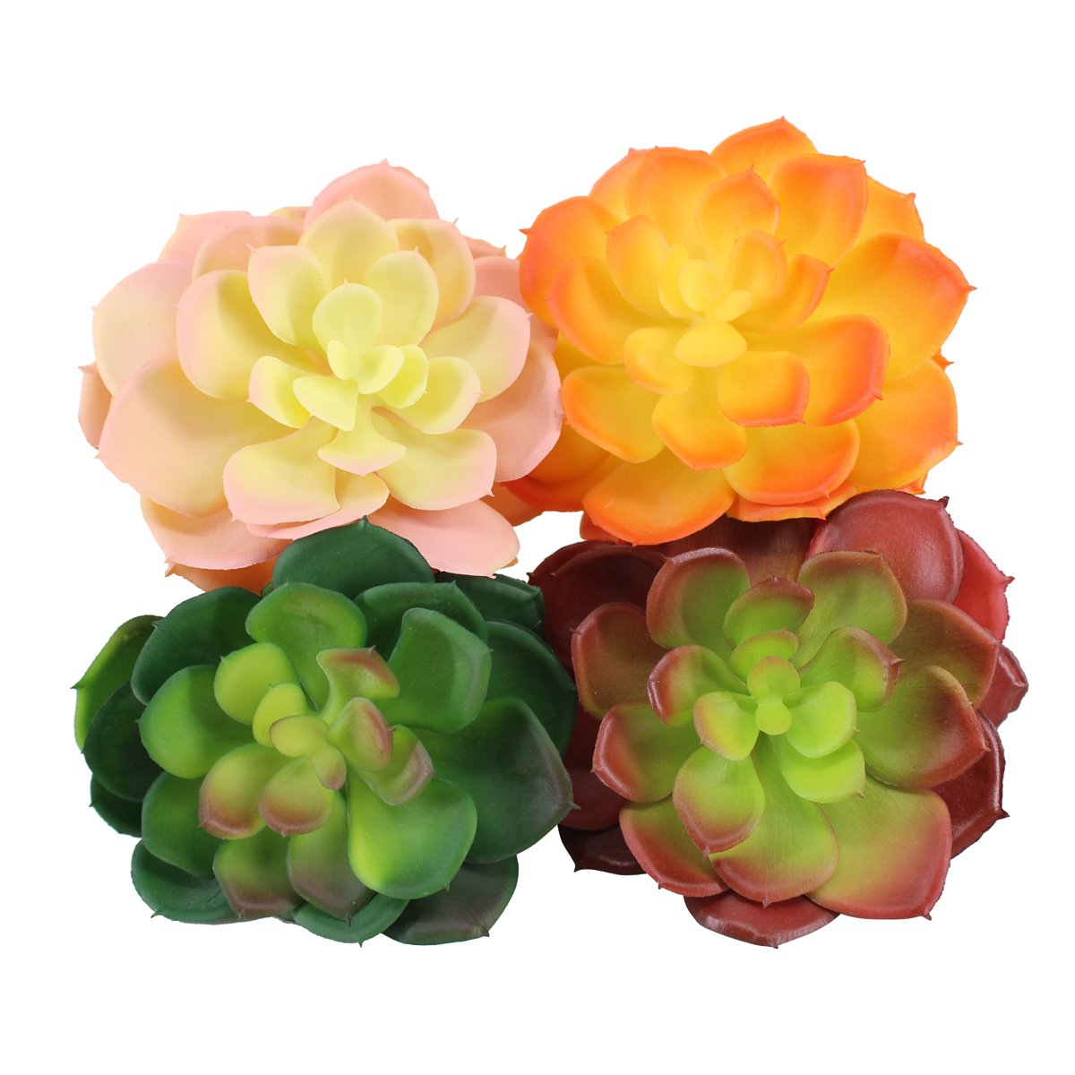 Amazon Greatflower Pack Of 4 Single Artificial Succulent In 4