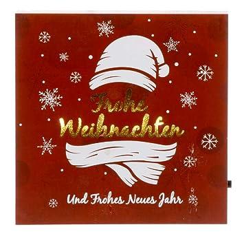 Schriftzug Frohe Weihnachten Beleuchtet.Cepewa Led Bild Frohe Weihnachten Schriftzug Beleuchtet