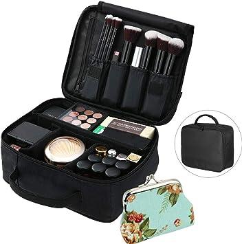 TANCUDER - Estuche de maquillaje portátil multifunción para viaje, con cartera pequeña para cosméticos, brochas de maquillaje, artículos de tocador y accesorios de viaje: Amazon.es: Equipaje