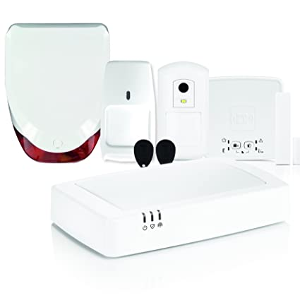 Honeywell hs923gprs Kit de Alarma doméstica inalámbrica GPRS, Color Blanco