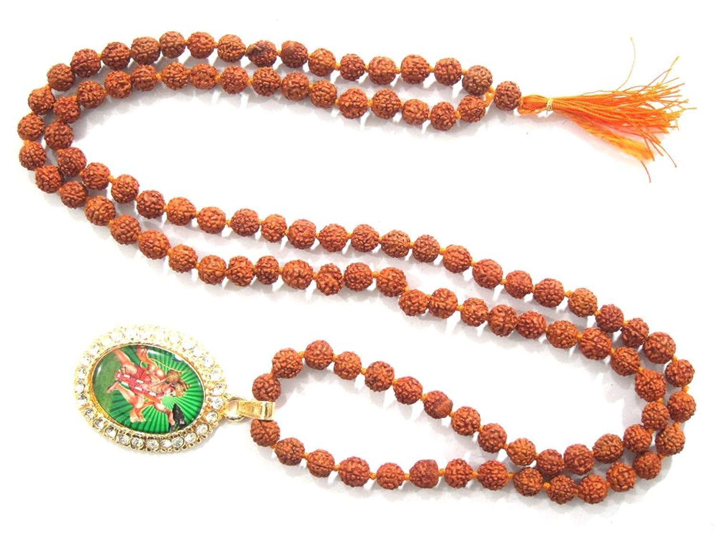 Amazon.com: Hanuman Rudraksha Meditation Yoga Jewelry Mala Beads ...
