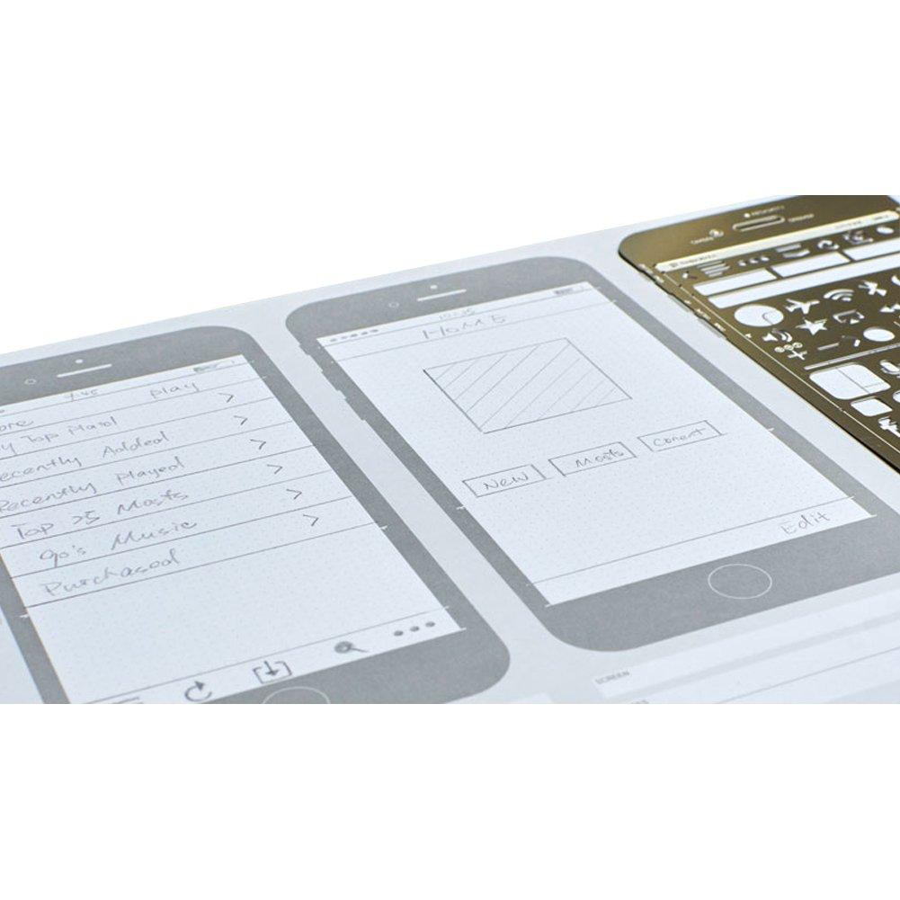 OLizee Creative iPhone 6 Sketch Pad Stencil Kit for App Design UI Design by OLizee (Image #6)