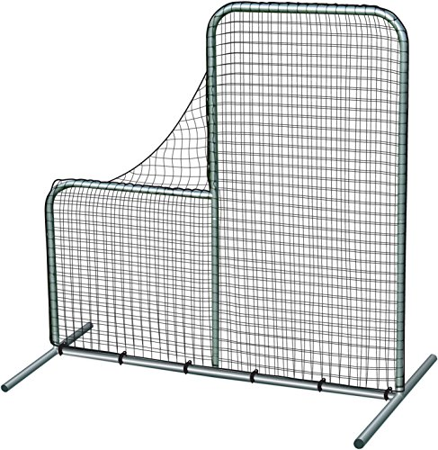 Pitcher's Safety L-Screen - 7'x7' w/ 40'' Drop by CHAMPRO