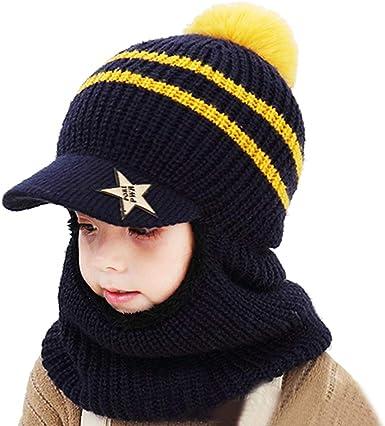 ni/ños y ni/ñas Sombrero de invierno c/álido con capucha de punto para ni/ño gorro de punto para invierno sombrero de invierno con capucha para beb/é