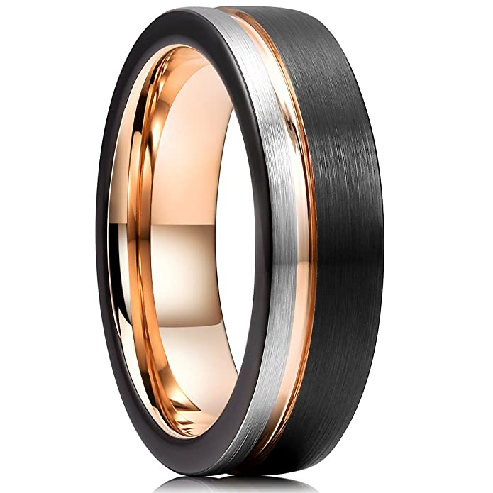 Amazon.com: King Will Anillo de carburo de tungsteno de 8 mm ...