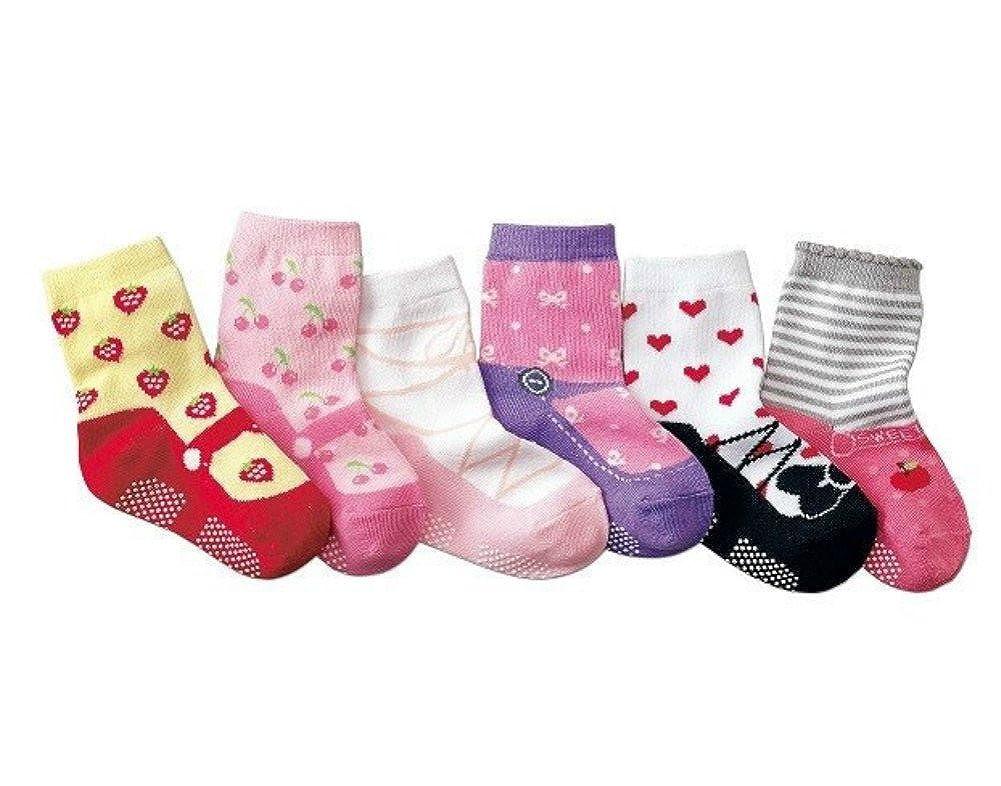 StylesILove Princess Baby Girl Soft Cotton Non Slip Socks 6 Pairs