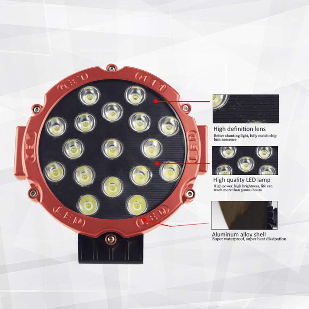 Cherishly 51W Ronda LED 7 Pulgadas Luz de Trabajo Luz Delantera, Retrofit Luz Impermeable para vehículo Grande Vehículo Motocicleta Tractor de camión Campo ...