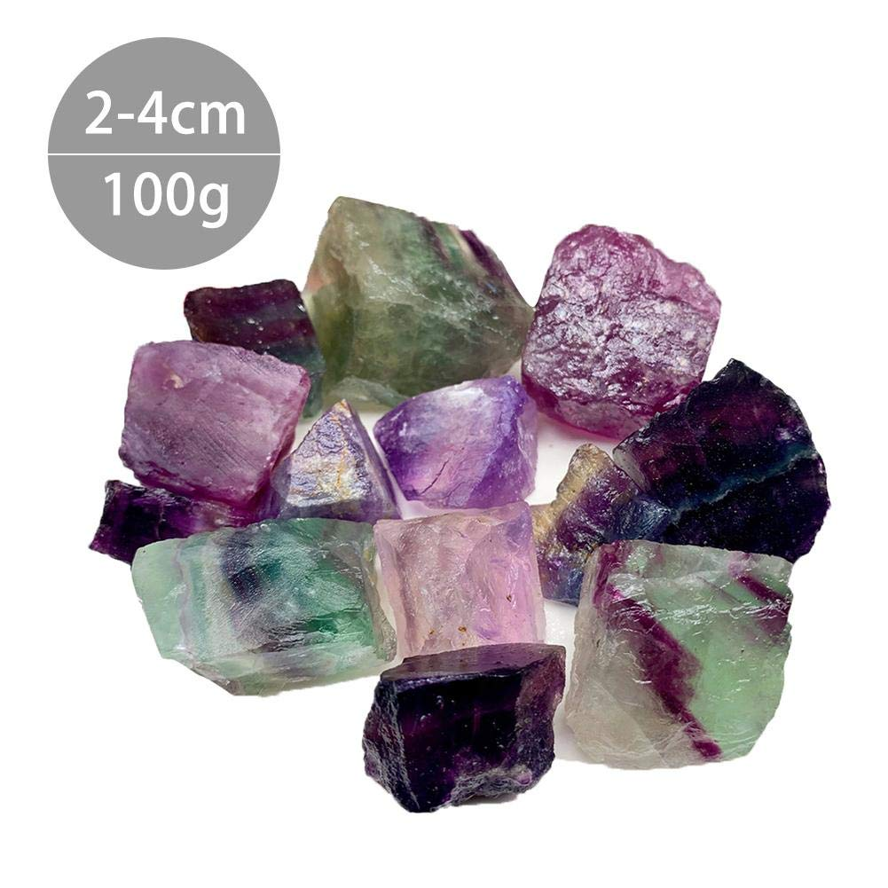 Yunhigh-uk Natural Crystal Stone Rose Quartz Chunk Amethyst White Crystal Citrine Gravel Aroma Fluorite Crystal Stone