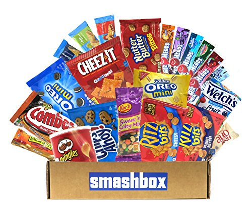smashbox Sweet and Salty Snack Pack - 25 Assorted Cookies, Chips & Candy