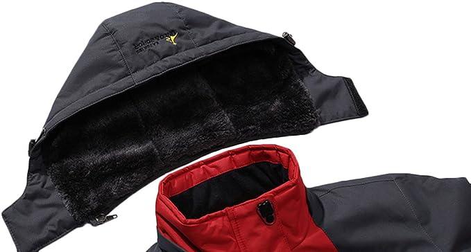 Sawadikaa Giacca da Donna Impermeabile Cappuccio Softshell Cappotto Giacca a Vento Invernale Manica Lunga Giacca Montagna Avventura