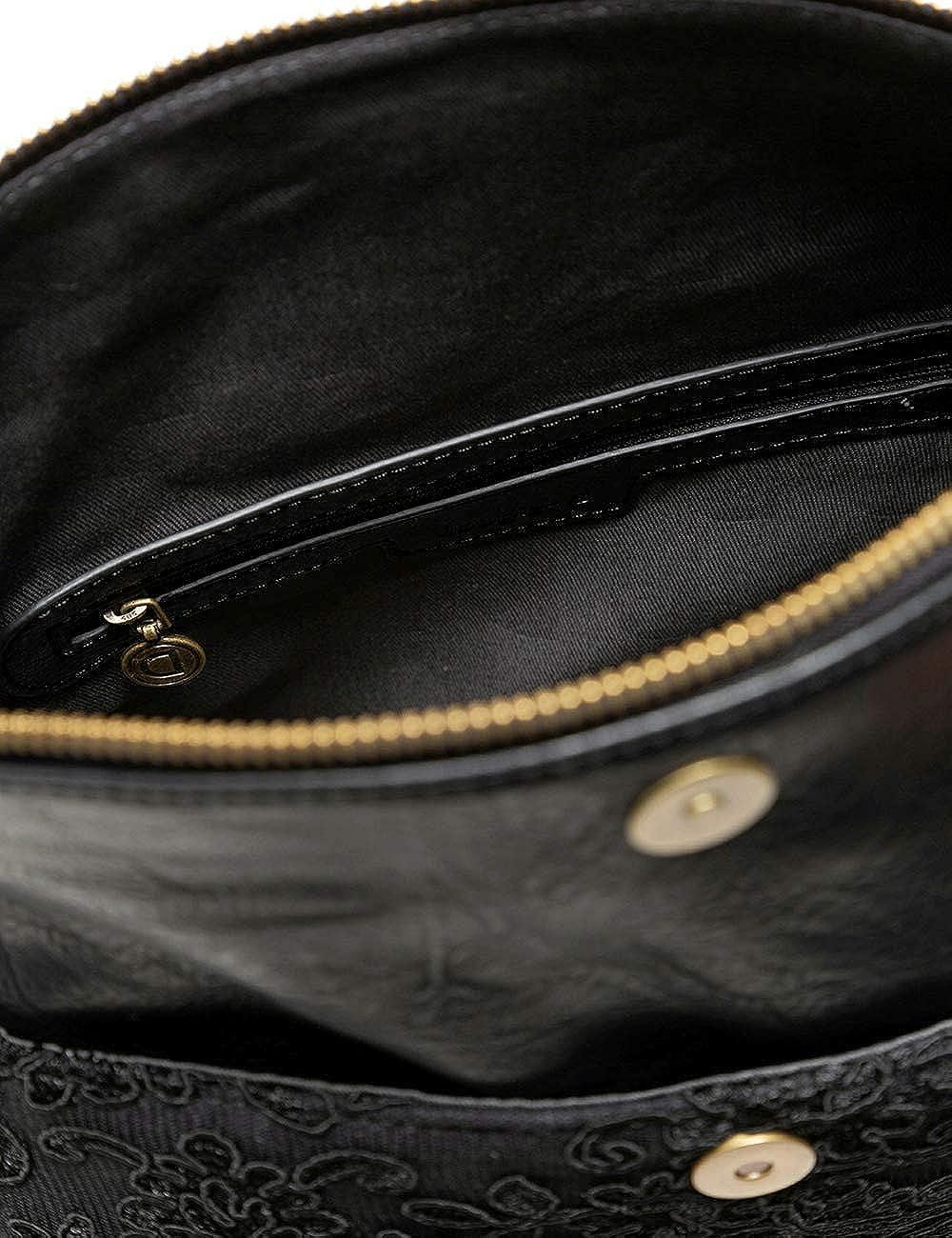Desigual Sac /à main en tissu pour femme Noir Taille U