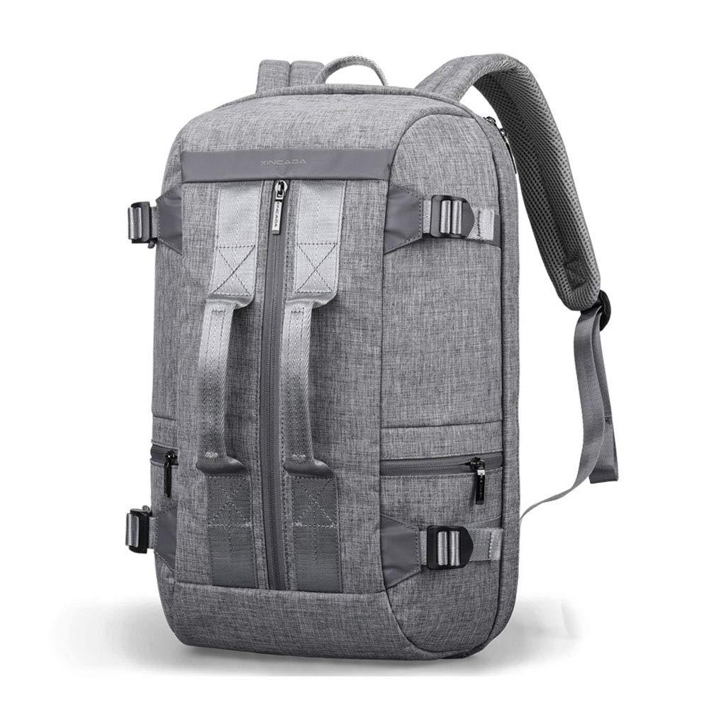 バックパックで運ぶダッフルバッグ週末旅行バッグ旅行バックパックラップトップバックパックトートバッグ男性用大容量学校デイパック B07Q4D27C1 Gray