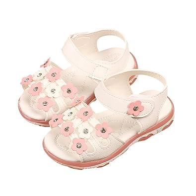 e75e18cb99a13 GongzhuMM Sandales Bébé Fille 21-30 Été Chaussures Fille Creux Chaussures  Légères LED Chaussures
