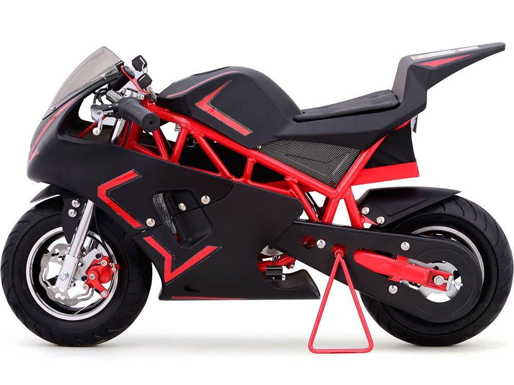 Mototec Cali 36v Electric Pocket Bike Red Sports