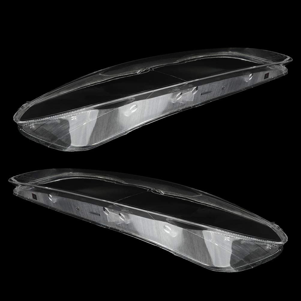 A Pair OCPTY Fits for 2006-2007 Mazda 6 Mazdaspeed Sedan 4-Door;2003-2008 Mazda 6 i Sedan 4-Door Car Headlight Headlamp Clear Lens Shell Cover Driver Passenger Side Auto Shell