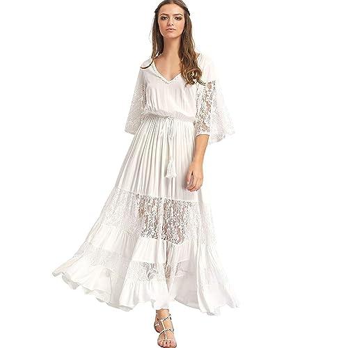 Image result for white boho dress