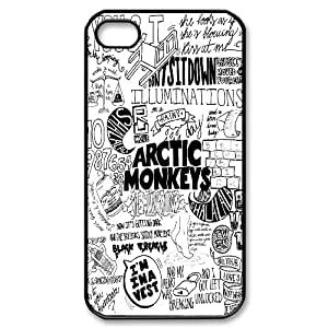 Steve-Brady Phone case Arctic Monkeys Rock Music Band For Iphone 4 4S case cover Pattern-2 by runtopwell