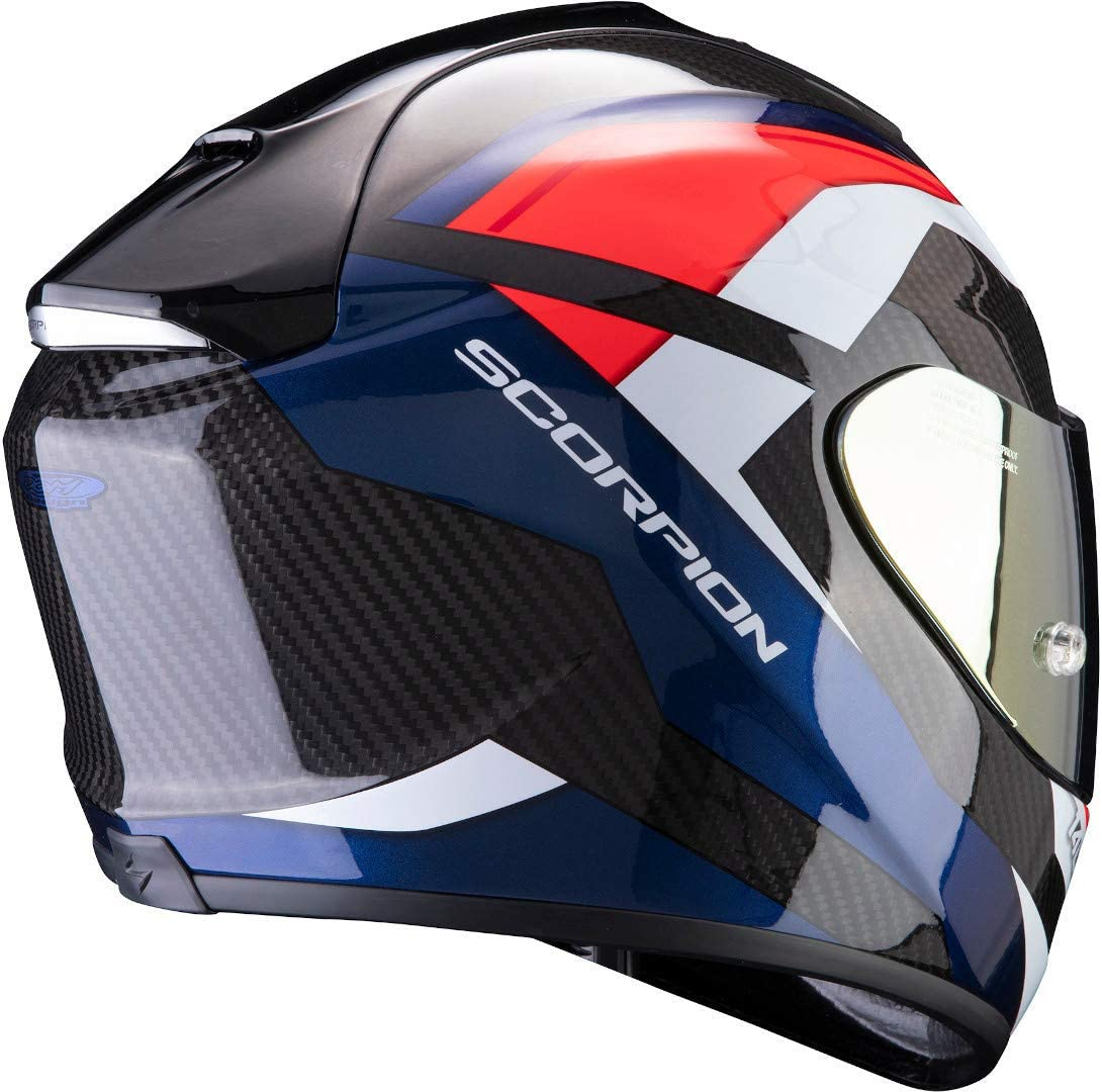 SCORPION EXO-1400 AIR CARBON LEGIONE CASQUE INT/ÉGRAL ROUGE BLEU L