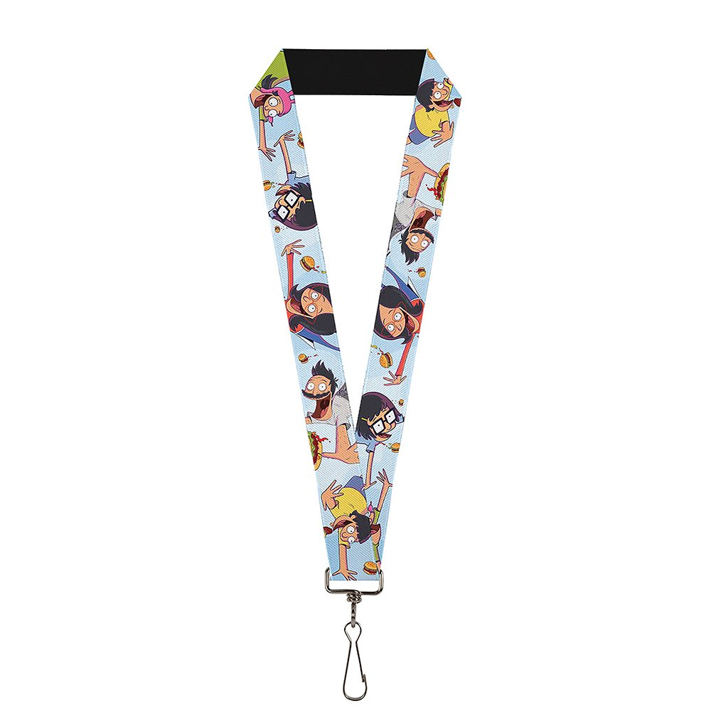 Buckle Down Lanyard - 1.0 - Bob's Burgers Issue #2 Cover Pose Falling B Accessory Multi-Colored One-Size LY-1.0-WBRG008