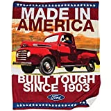 Ford Truck Fleece Sherpa Throw - Strong & Tough American Vintage Truck