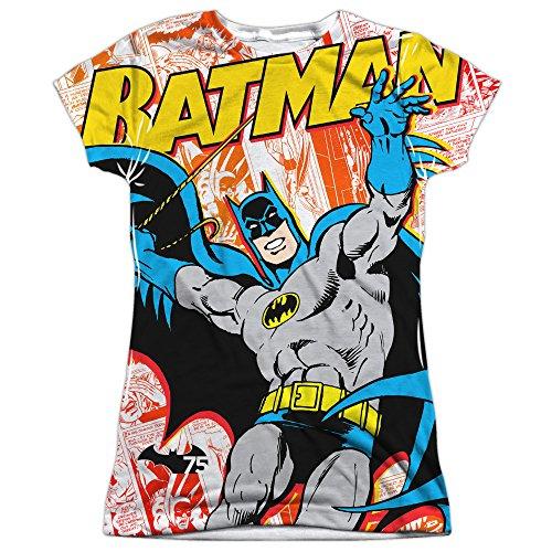 Price comparison product image Batman TV Series Retro 75th Anniversary Cover Juniors Front/Back Print T-Shirt