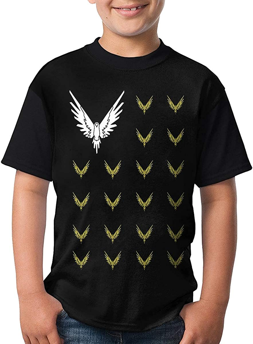 Maverick L/_Paul Savage Graphic Childrens Tee Shirts Short Sleeve Round Neck Causal Quick-Dry Breathable XS