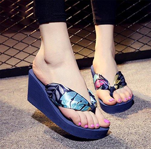 RuiShapes Slippers Damen Sandalen dicker Boden Hang mit Strand Schuhe 1