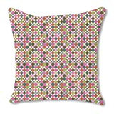 Star Bingo 18X18 Burlap Pillow 2-Sided Custom Printed