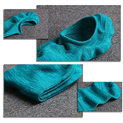 IDEGG Women's and Men's Socks 10 Pairs Low Cut Anti-Slid Athletic Casual Cotton Socks at Women's Clothing store