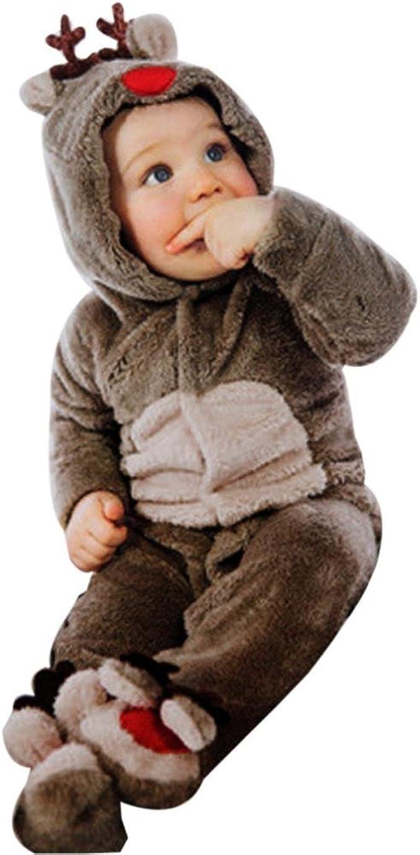 Inverno e autunno Neonato Flanella Manica Lunga cappuccio Romper Pagliaccetto Neonato Bambino Pagliaccetto in Flanella Bambina Unisex Pagliaccetti Neonato