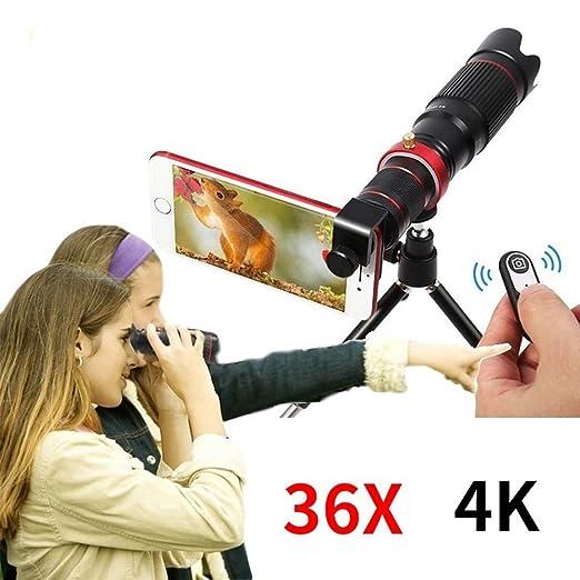 SEXTT Lente de la cámara móvil 36X Zoom Telephoto Telescopio ...